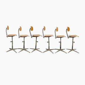 Taburetes de bar industriales de Friso Kramer para Ahrend De Cirkel, años 50