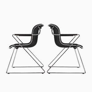 Modell Peneloppe Esszimmerstühle von Charles Pollock für Castelli / Anonima Castelli, 1980er, 6er Set