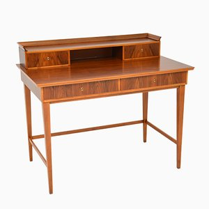 Vintage Danish Walnut Desk, 1950s