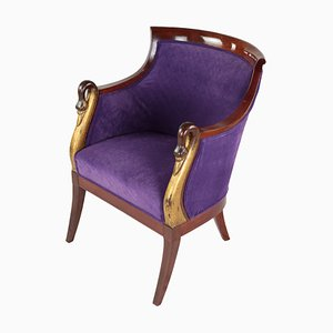Antique Empire Style Mahogany Armchair