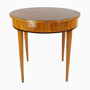Biedermeier Round Cherrywood Side Table, 1820s