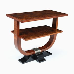 Art Deco French Walnut Side Table, 1920s