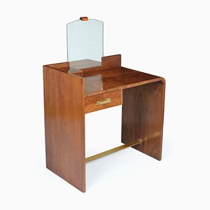 Art Deco Walnut Dressing Table, 1930s