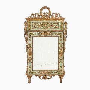 Italienische Spiegel mit Originalbemalung und Vergoldung, 2er Set, 18. Jh