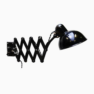 Schwarze Scheren Wandlampe von Kaiser Idell / Kaiser Leuchten, 1930er