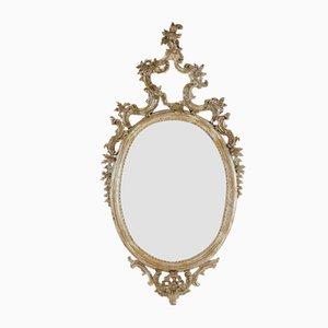 Large 18th Century Italian Silver Gilt Mirror
