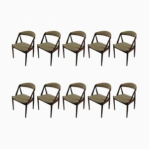 Teak Dining Chairs by Kai Kristiansen for Schou Andersen, 1960s, Set of 10