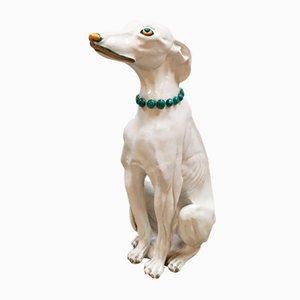 Large Vintage Italian Ceramic Dog Sculpture, 1950s
