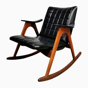 Vintage Rocking Chair by Louis van Teeffelen for WéBé, 1960s