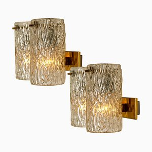 Bubble Glass Sconces or Wall Sconces by Hillebrand, 1960s, Set of 2