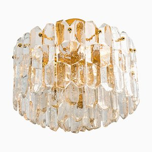 Gilt Brass and Glass Palazzo Ceiling Lamp by J.T. Kalmar, 1960s