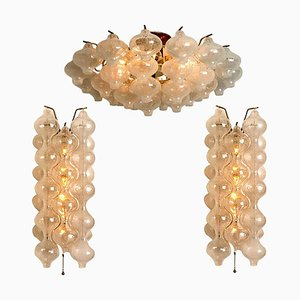 Tulipan Chandeliers by J.T. Kalmar, 1970s, Set of 3