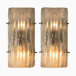 Austrian Glass Wall Sconces by J.T. Kalmar, 1970s, Set of 2