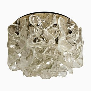 Caterna Wandlampe aus Muranoglas & Chrom von JT Kalmar, 1960er