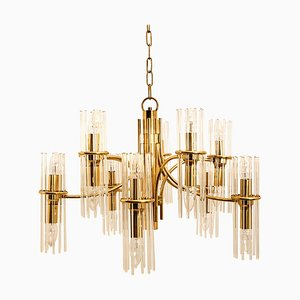 Rod Brass Chandelier by Gaetano Sciolari for Lightolier, 1960s