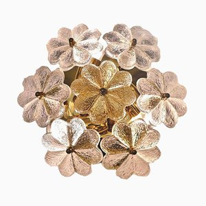 lass and Brass Floral Wall Light from Ernst Palme, 1960s