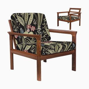 Embroidered Sculptural Easy Chairs by Sven Ellekaer, 1960s, Set of 2
