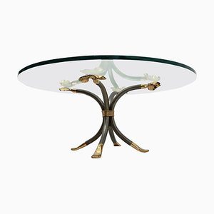 German Brass and Iron Coffee Table by Manfred Bredohl, 1970s
