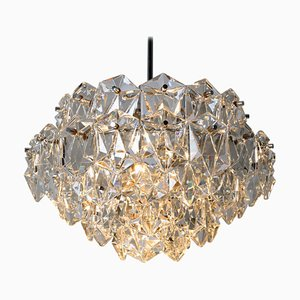 Chrome and Crystal Chandelier by OTT, 1970s