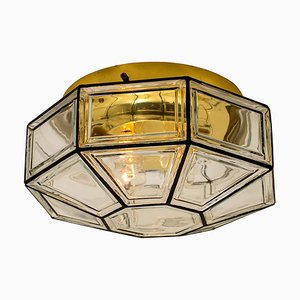 Large Clear Glass Sconce by Glashütte Limburg, 1960s