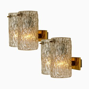 Bubble Glass Sconces by Hillebrand, 1960s, Set of 2
