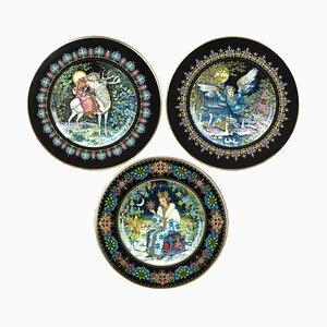 Magical Fairy Tales Old Russia Plates by Gere Fauth, 1969, Set of 3