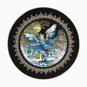 Magischer Märchen Old Russia Fauna Lutonja Teller von Gere Fauth, 1969