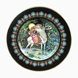 Magical Fairy Tales Old Russia Plate the Deer and Marusa by Gere Fauth, 1969