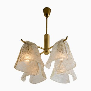 Ice Glass Chandelier by J.T. Kalmar, 1970s