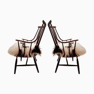 Grands Fauteuils Modèle Grandessa par Lena Larsson pour Pastoe & Nesto, 1959, Set de 2