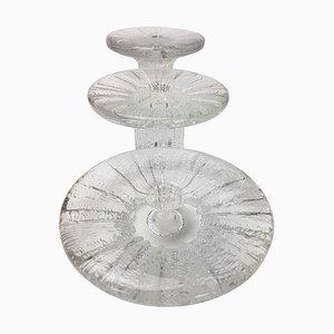Eisglas Kerzenhalter von Timo Sarpaneva für Iittala, 1980er, 3er Set
