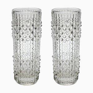 Vasen aus Kerzenwachs für Sklo Union, 1970er, 2er Set