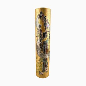 Large Hand-Painted Gilt Vase by Bjorn Winnblad, 1960s