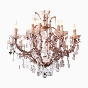 Italian Maria Theresa 13-Light Chandeliers, 1960s, Set of 2