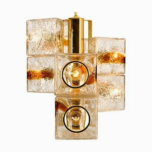 Space Age Modern VeArt Cube Murano Glass Chandelier by Toni Zuccheri, 1970s