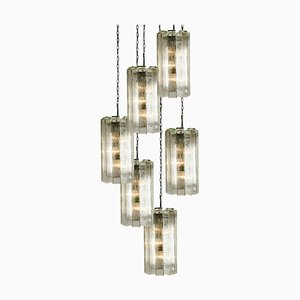 Hand Blown Murano Model 4308 Pendant Chandelier by Doria Leuchten Germany, 1960s