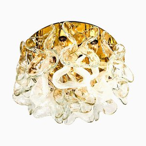 Murano Glass Catena Flush Mount Chandelier by J.T. Kalmar, 1960s