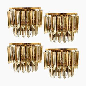 Austrian Murano Glass and Brass Sconce by Palwa, 1960s