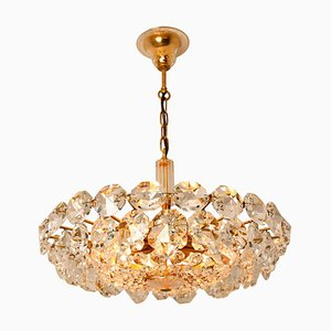 Austrian Brass and Crystal Glass Chandelier by Palwa for Bakalowits & Sohne, 1960s