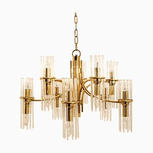 Brass Chandelier by Gaetano Sciolari for Lightolier, 1960s