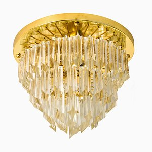 Four-Tiered Murano 'Astra Quadrilobo' Crystal Chandelier by Venini, 1960s