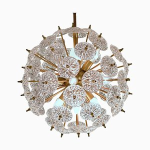 Sputnik Chandelier with Crystal Discs in the Style of Emil Stejnar from Val Saint Lambert, 1970s