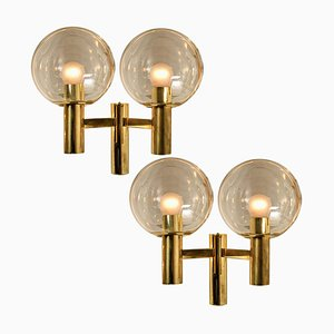 Swedish Wall Lights the Style of Hans-Agne Jacobsson, 1970s, Set of 2