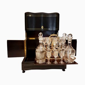 19th Century French Napoleon III Liqueur or Tantalus Cellar Set
