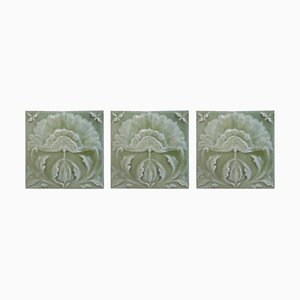 Art Nouveau Relief Tiles 1681 Sqm by Craven Dunnill & Co., 1905, Set of 25
