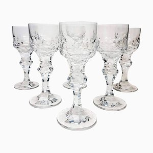 High-End Crystal Goblets by Moser Glassworks, 1970s, Set of 6