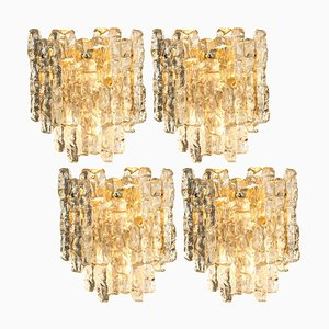 Austrian Ice Glass Sconce by J.T. Kalmar, 1960s