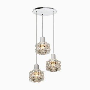 Luminaire Cascade avec 3-Lampes Dorées par Helena Tynell, 1960s