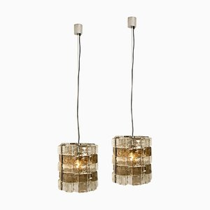 Italian Murano Glass Pendant Lights by Carlo Nason, 1970s, Set of 2