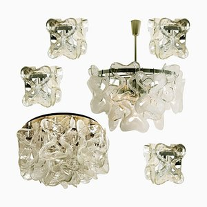 Catena Murano Glass Light Fixtures by J.T. Kalmar, 1970s, Set of 6